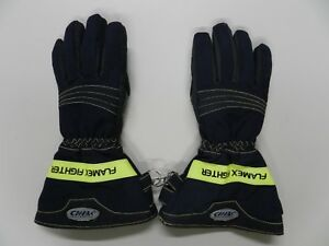 Chiba Flamex Fighter Firefighter Turnout Gloves Nfpa 1971 2007 Edition Xsmall