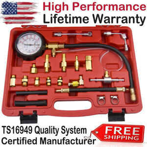 Gasoline Fuel Injection Pump Pressure Injector Tester Gauge 0 140psi 0 10 Bar Us