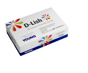 50 Single Units Young Dental D lish 5 Sodium Fluoride Varnish Teeth Enamel