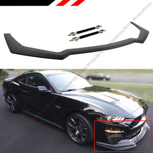 For 18 2020 Mustang Gt Performance Style Add on Front Bumper Lip Splitter Rod