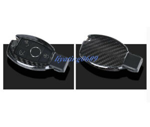Carbon Fiber Remote Key Case Fob Shell Cover For Mercedes benz Gla X156 14 18