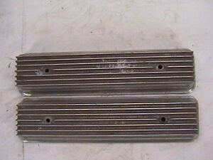 Small Block Chevy Valve Covers Vintage 2 Bolt Rare 7 All Fin