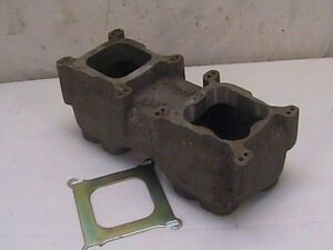 Vintage Edelbrock Small Block Chevy 2x4 Tunnel Ram Top Dual Quad Sbc