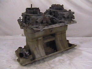 Edelbrock Tunnel Ram Chevy Dual Quad Intake Manifold 2x4 Tr1yx Holley Carbs Sbc