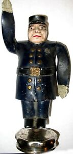 Traffic Cop Policeman Whirligig Radiator Cap Mascot Stop Signal Model T A Ford