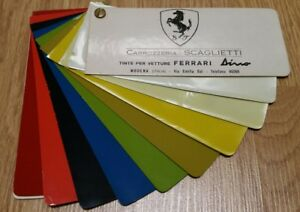 Ferrari Dino 246gt s Paint Samples