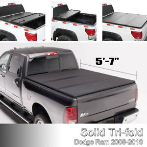 Fit 09 2018 Dodge Ram Truck 5 7 Ft Hard Tri fold Tonneau Truck Bed Cover Us Set