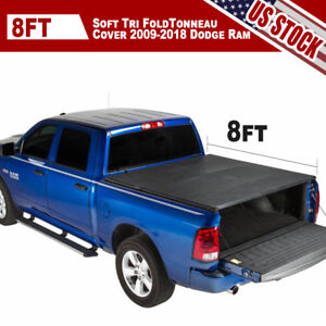 Soft Tri Fold Tonneau Cover 2003 2008 Dodge Ram 1500 2500 8ft Truck Leather Bed