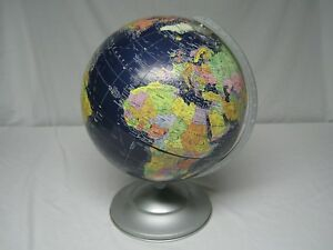 Vintage Replogle 12 Midnight Globe W Raised Topological Features