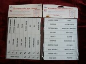 New Magnetic Labels For Tool Boxes 49 Specific Labels 20 Blank Labels