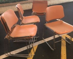 10 Vintage Matrix Krueger Armless Stacking Chairs Pick Up Only Phoenix Az