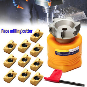 Bap 400r 100 32 6f Indexable Face Milling Cutter apmt1604pder Inserts wrench Kit