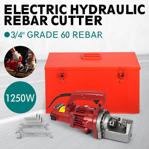 Rc 20 3 4 inch Capacity Hydraulic Rebar Cutter Electric Round Steel Electric