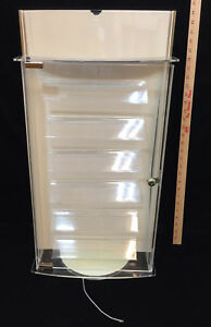 Jewelry Display Case Revolving 2 Sided Locking Key Acrylic W Mirrored End Caps