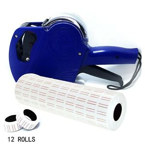Retail Pricing Gun Price Marker Sticker Label Roll Tagging Spare Ink 8 Digits
