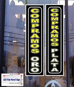2 Led Signs Compramos Plata Oro we Buy Gold Silver In Spanish Free Ship