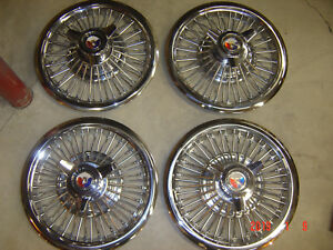 63 64 65 66 Ford Galaxie Thunderbird Mustang 15 Spinner Wheel Covers Hubcap 428