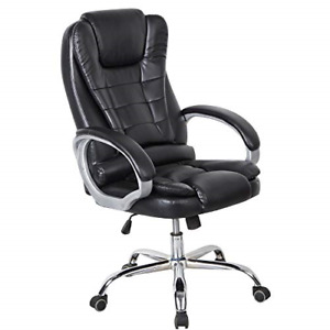 High Back Executive Office Chair Pu Leather Big And Tall Swivel Desk Home Task