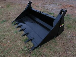 Bobcat Skid Steer Attachment 72 4 in 1 Multi Purpose Tooth Bucket Ship 199