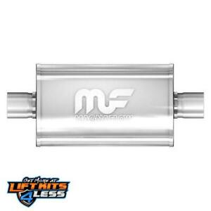 Magnaflow 14246 2 5 In Out Oval Straight Through Performance Muffler Universal
