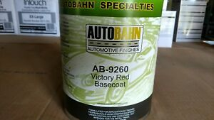 Autobahn Victory Red Base Coat Paint 1 Gallon Gm Code Wa9260
