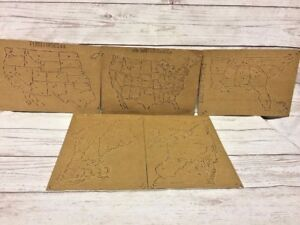 Antique Late 1850s The Unites States Outline Map Atlas Made In Saxony