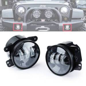 2pc 4 Inch 30w Cree Led Projector Driving Fog Lights Amber For Jeep Wrangler Jk