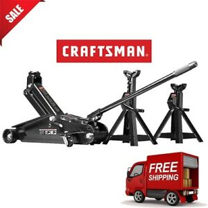 Craftsman 2 1 4 Ton Hydraulic Floor Jack Set W 2 Jack Stands Auto Car Tool New