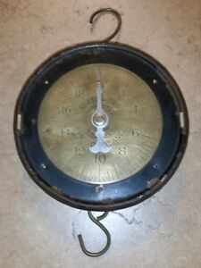 Vintage Chatillon Brass Scale Spring Balance 20lb Jc Sons