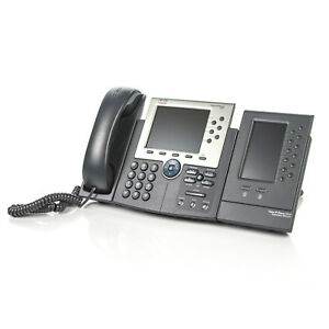 Cisco Cp 7965g Ip Voip 6 line Business Phone W 7916 Expansion Module No Ac