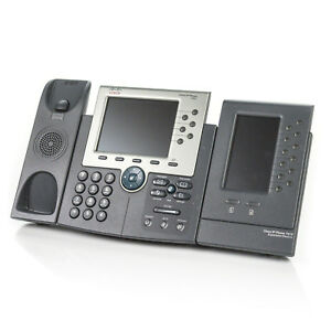 Cisco Cp 7965g Ip Voip 6 line Business Phone W 7916 Expansion Module base Only