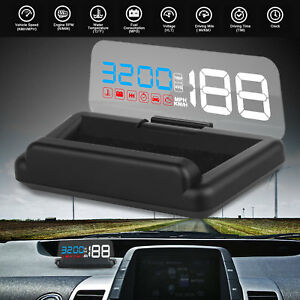 5 Obd2 Obdi Car Hud Projector Head Up Display Overspeed Warning System