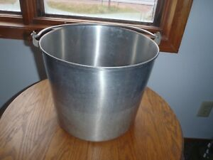 Vintage Stainless Steel Volrath Pail milking Pail maple Syrup Pail