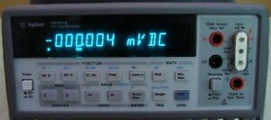 Agilent Hp 34401a 6 1 2 Digit Dmm Multimeter With Extras Nist Calibrated