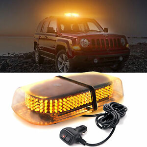 240 Led Emergency Warning Roof Top Strobe Snow Plow Light Amber 12v 7 Modes Us