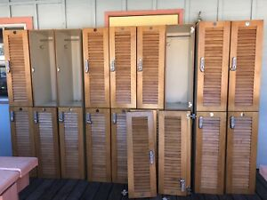 Stacked Wood Lockers