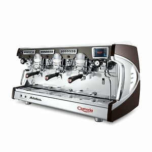 Astoria Sabrina Sae Automatic Cool Touch 3 Group Espresso Machine Blk Or Brown