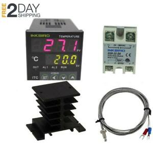 Ac 100 220v Itc 100vh Digital Pid Thermostat Temperature Controller New