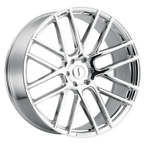 1 24x10 5 120 Status Rogue Chrome Wheel rim 24 2410rog305120c76
