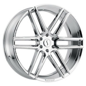 1 24x9 5 5 114 30 Status Titan Chrome Wheel rim 24 2495ttn305114c76
