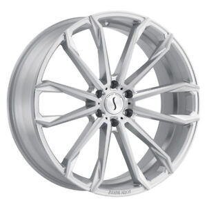 1 24x9 5 6 139 70 Status Mastadon Silver W brushed Machine Face Wheel rim 24
