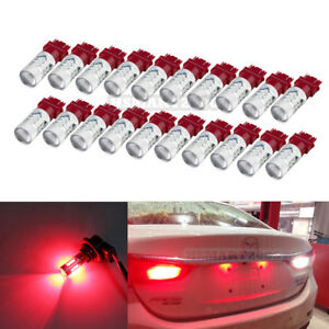 20pcs Red 3157 3156 3057 3056 4157 15smd 5730 Led Bulbs For Brake Tail Light