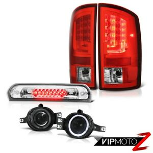 2003 2006 Dodge Ram 1500 3 7l Tail Brake Lamps Smoked Fog 3rd Lamp Light Bar Led