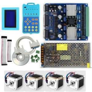Upgraded Standard Cnc 4axis Stepper Driver Keypad display 4 Motor 76 Oz in psu