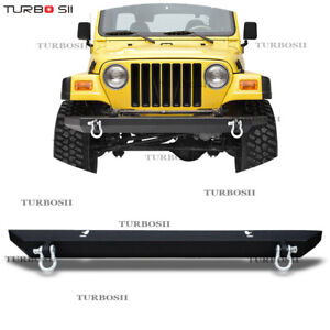 For Jeep Wrangler Tj Yj 87 06 Rock Crawler Textured Front Bumper