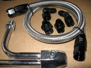 Holley Fuel Line Big Sale 4150 9 5 16 Center To Center Chevy