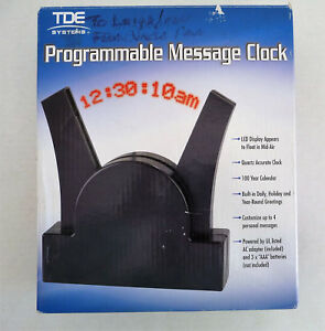 Tde Systems Programmable Message Clock Floating Message Led Display