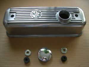 Mgb Mga Aluminum Alloy Valve Cover With Vented Cap And Spacer With Washer