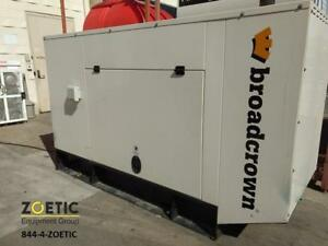Broadcrown 60kw 75kva Stationary Diesel Generator Low Hours 3 Phase 460v