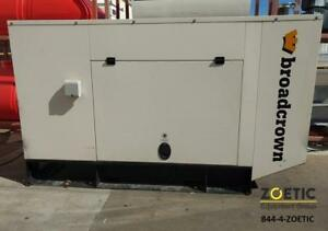 Broadcrown 60kw 75kva Stationary Diesel Generator 3 Phase 460v Low Hours